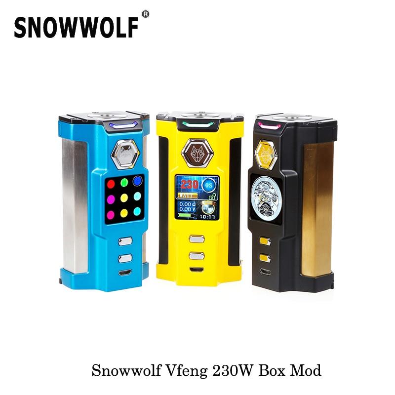 230W Original Sigelei Snowwolf Vfeng Starter Kit Box Mod 510 Threading 2017 Mechanical Mod Vape Vaporizer Electronic Cigarettes цена
