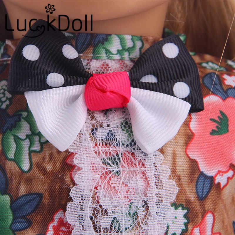 Accesorios de ropa de muñeca de la suerte de estilo inglés de encaje con volantes 18 pulgadas American 43 cm, juguetes para niñas, generación, regalo de cumpleaños