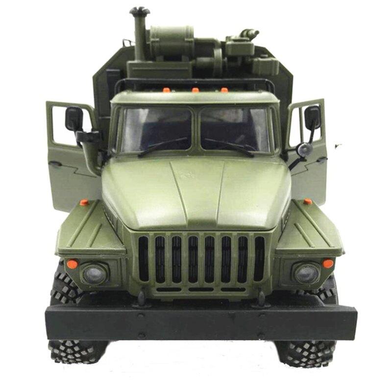 WPL B36 L'oural 1/16 2.4g 6WD RC Voiture Camion Militaire Rock Crawler Commande Véhicule de Communication RTR Jouet Vert Enfants cadeau de noël