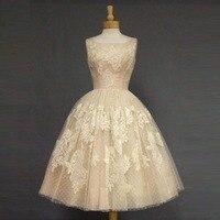 Реальное изображение Бежевый Кот по колено Платья для выпускного 2016 пользовательских Мода Аппликация Homecoming платье для подростков Обувь дл