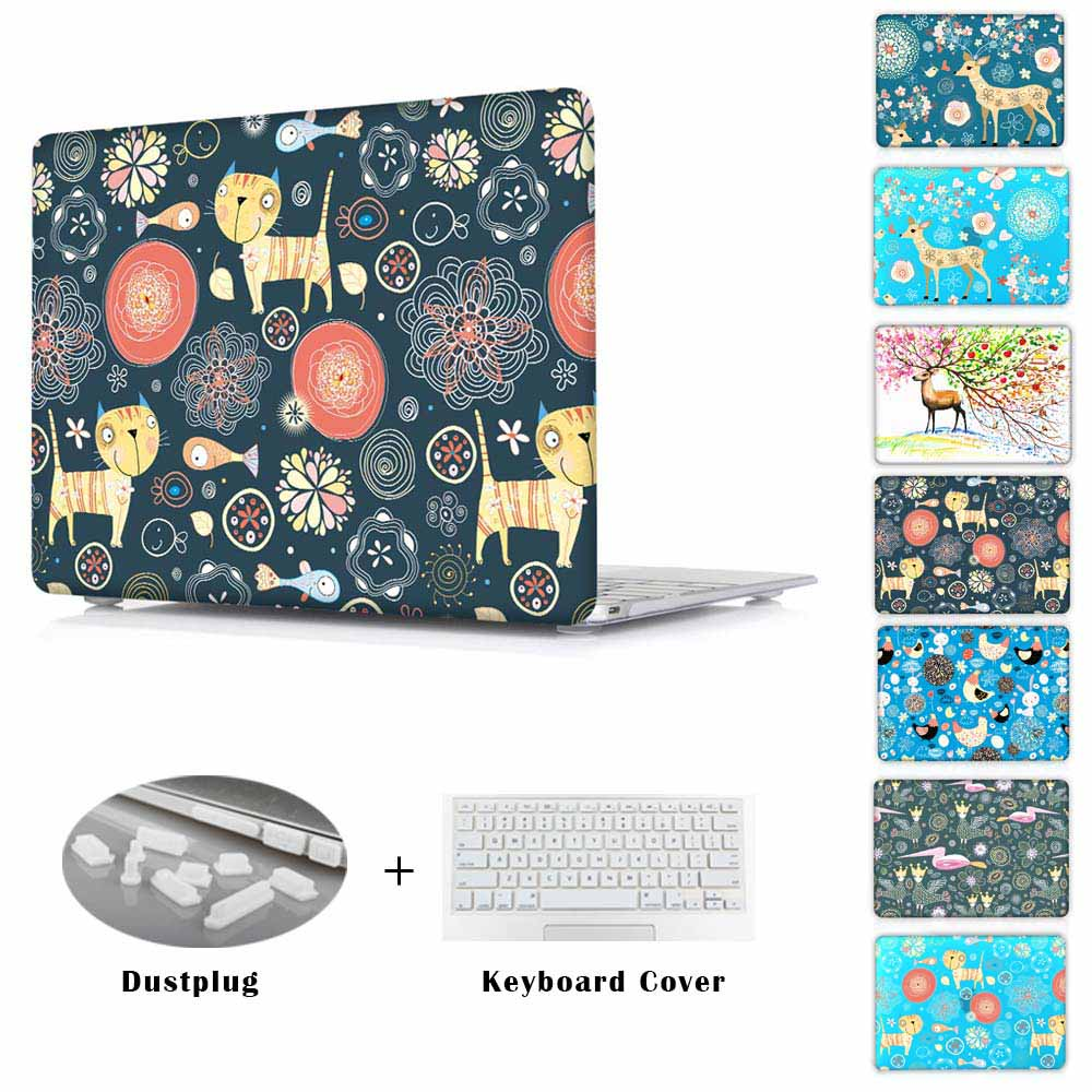 Deer animal printed Case for MacBook Pro Retina 13 15 Mac Book Air 11 13 12