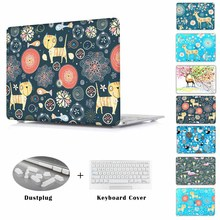 Deer gedruckt Fall für MacBook Pro Retina 13 15 Mac Buch Air 11 13 12 zoll A1534 A1466 A1502 A1278 laptop abdeckung shell