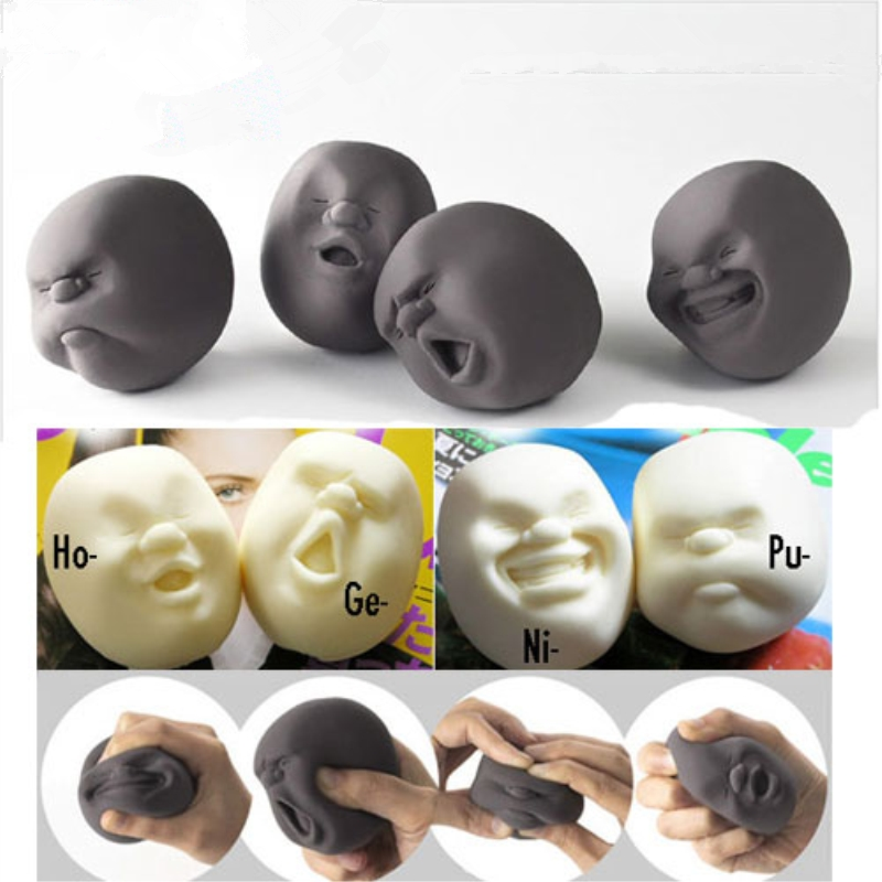Fun Novelty Antistress Ball Toy Human Face Emotion Vent Ball Resin Relax Doll Adult Stress Relieve Novelty Toys GiftToys Kids