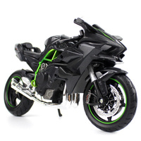 1:12 Scale KAWASAKI H2R R1 Motorcycle Motorbike Diecast Alloy Race Bikes Street Motor Toys Kids Children Toy Collection Display