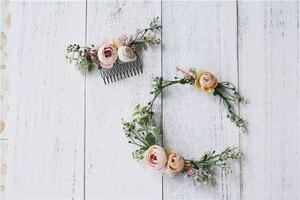 Image 5 - Vintage Wedding Headband Flower Wedding Hair Comb Bohemia Wedding Jewelry Handmade Hair Pieces for Women  Flower Headwear HD26