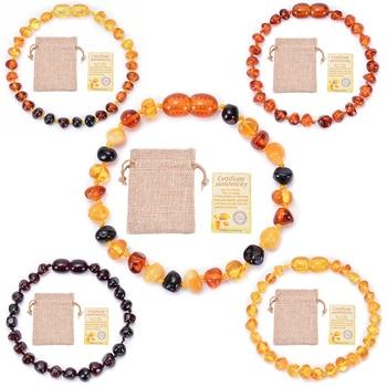 Natural Amber Teething Bracelets Anklets Teether Handmade Original Jewelry Baltic Amber Beads for Baby Shower Gift Wholesale автодиффузор для автомобиля baltic amber балтийский янтарь