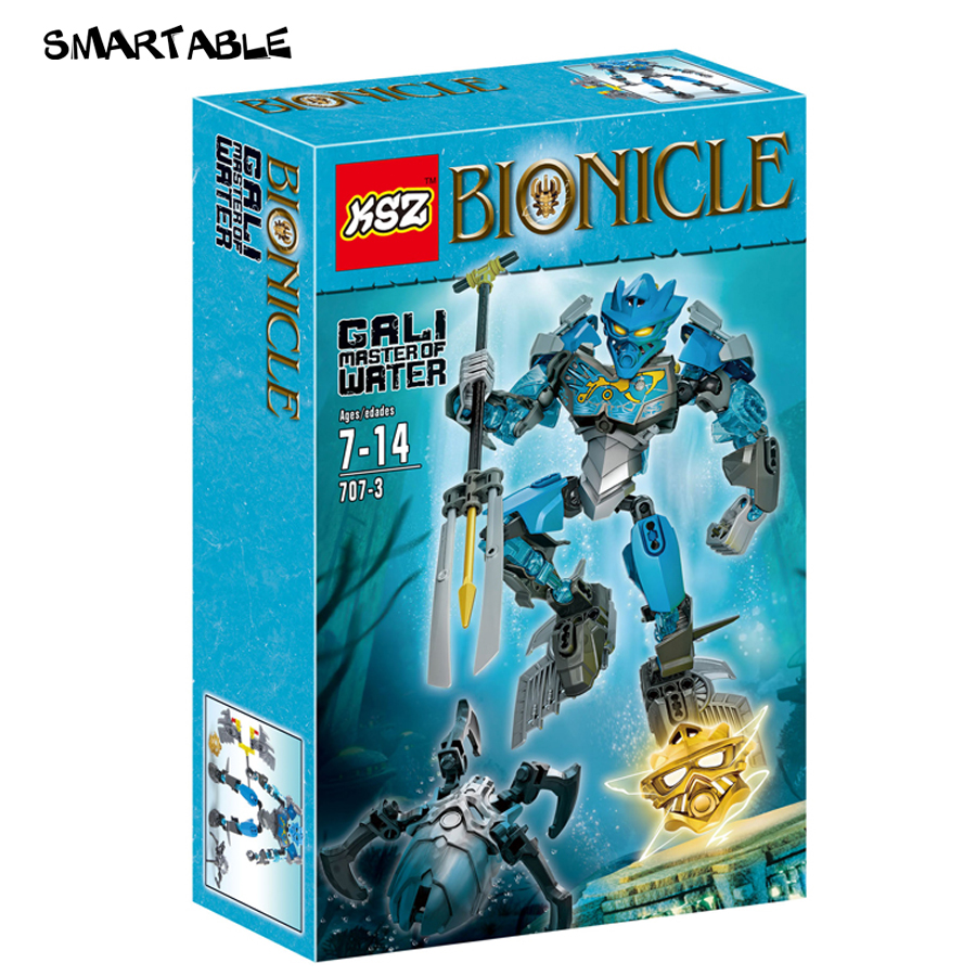 Smartable 87pcs BIONICLE 707-3 Master of Water Gali action figure Building Block brick toys Compatible Legoed BIONICLE smartable bionicle 191pcs umarak destroyer figures 614 building block toys compatible legoing bionicle lepin gift
