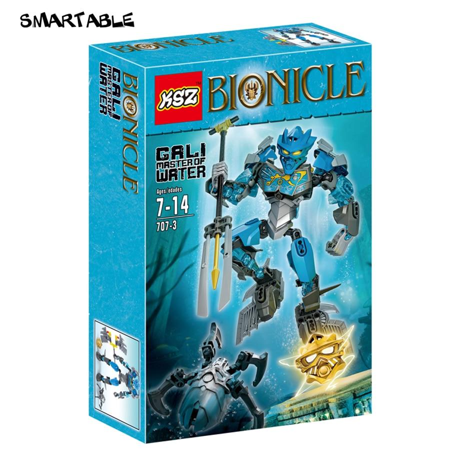 Smartable 87pcs BIONICLE 707-3 Master of Water Gali action figure Building Block brick toys Compatible Legoed BIONICLE bionicle максилос и спинакс
