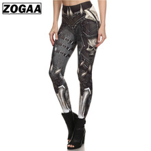 ZOGAA Brand New BARBARIAN Skull Women Leggings Printed Leggins Woman Pants  Black 2019 Summer