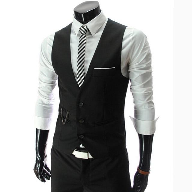 2015 Nuevos hombres de la marca premium de calidad slim fit Chalecos traje de negocios/Hombre de alta calidad de Color a juego del ocio traje chalecos