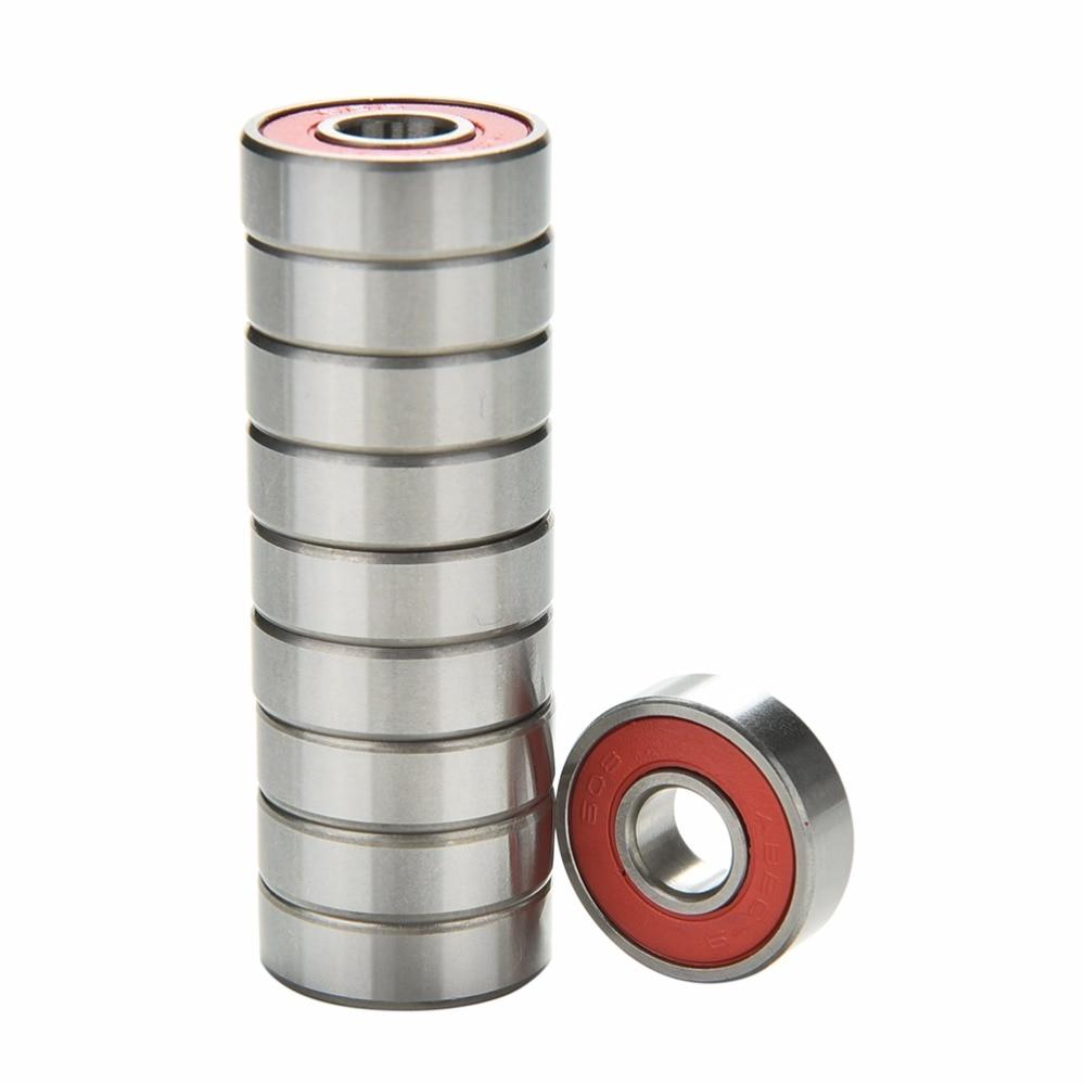 Rolamentos de aço inoxidável abec 9, rolamentos de alto desempenho para roda de skate e scooter com 10 peças