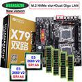 Rabatt motherboard set HUANAN ZHI dual X79 LGA2011 motherboard mit NVMe M.2 slot dual CPU Intel Xeon E5 2680 V2 RAM 32G (4*8G)|Motherboards|   -