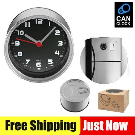 Relógios de cozinha simples imã de geladeira, relógios de parede de geladeira baratos, relógios de mesa de mesa, cor branca e preta para opções frete grátis