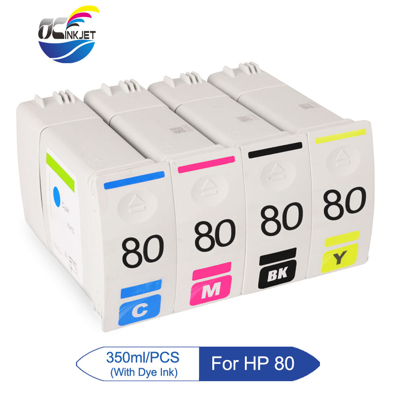 Ocinkjet For HP 80 Compatible Ink Cartridge For HP Designjet 1050 1050C 1055 1055CM Printer (C4871A C4846A C4847A C4848A)