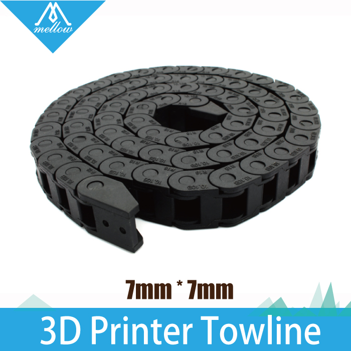 ¡ CALIENTE! mejor!!! 7x7mm L1000mm Cable Drag Chain cable Carrier Cable con cone
