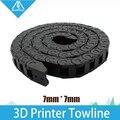 HOT! melhor!!! 7x7mm L1000mm Cabo Arraste Cadeia Fio Transportadora com conectores terminais para Ferramentas Da Impressora 3D