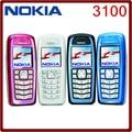 Abierto original nokia 3100 bar gsm 850 mah apoyo ruso y keybaord teclado barato y viejo teléfono celular envío gratis