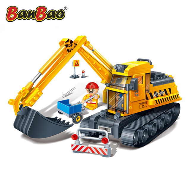 Конструктор для детей BANBAO Экскаватор 8536
