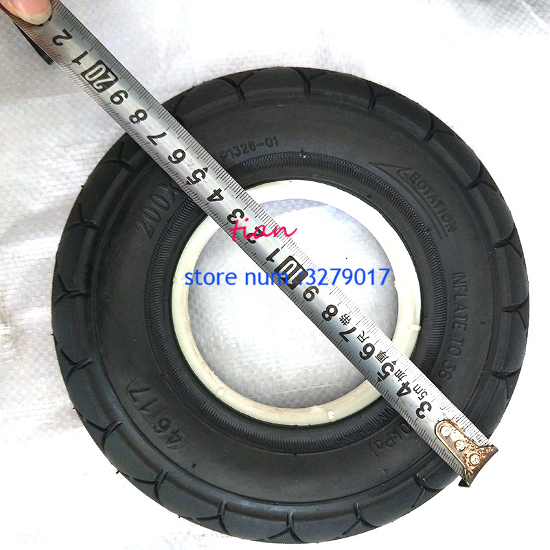Image 4 - 2 colors 1 pc Mobility Scooter wheelchair tire 200 x 50 (8x2) solid/foam filled 200x50 for Razor E100 E125 E200 Scooter Vapo-in Tyres from Automobiles & Motorcycles