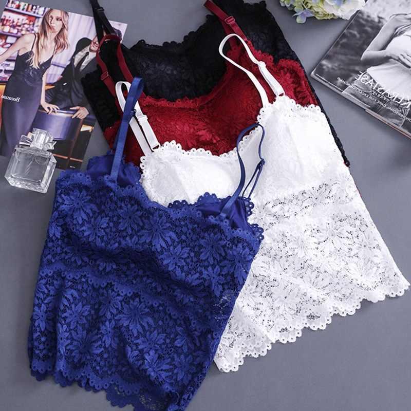 64d6729321 Women Bra Sexy Lingerie Floral Lace Bralette Padded Wireless Bras Plus Size  Underwear Women Seamless Bra