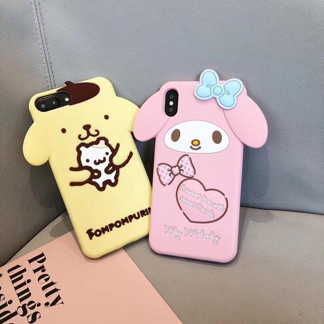 3D Japan My Melody Cinnamoroll Cartoon iPhone Case
