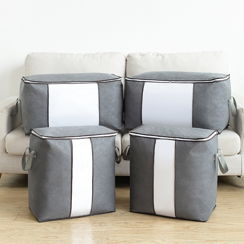 Yooap quilt non woven storage bag home finishing bag travel clothing big bag duffel bag cloth box in Foldable Storage Bags from Home Garden