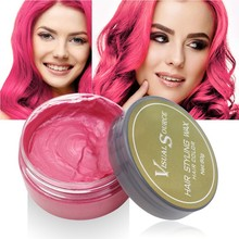 Professional Dynamic Modeling Hair Wax Makeup 5 Colors Dye Color One-time Molding Paste New