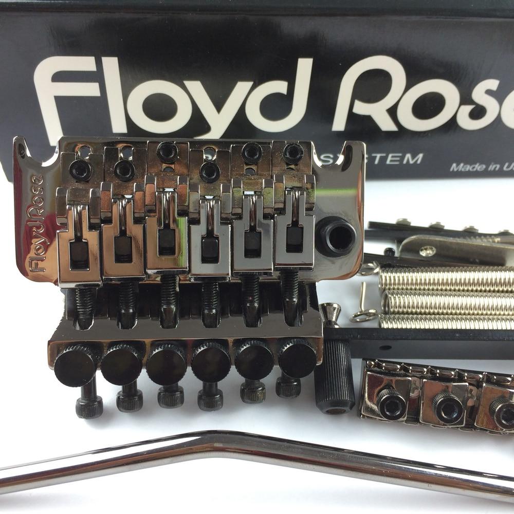 Genuine Original Floyd Rose 1000 Series Electric Guitar Tremolo System Bridge FRT05000 Black Nickel ( Without packaging ) sews double locking tremolo system bridge for electric guitar floyd rose parts silver