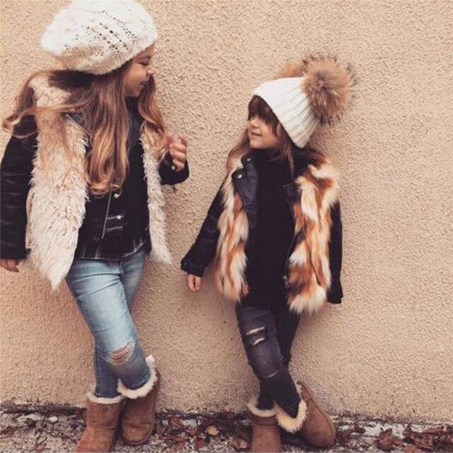603ed56043f pudcoco Cute Winter Mom Women Baby Kids Crochet Knitted Hat Caps Children  Girl Boy Wool Fur Bobble Ball Pompom Beanies Hats