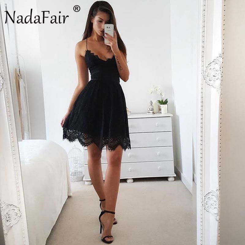 HTB1bzyTagoQMeJjy1Xaq6ASsFXaR - FREE SHIPPING Party Dress Sleeveless Lace-up Backless V Neck White Black 142