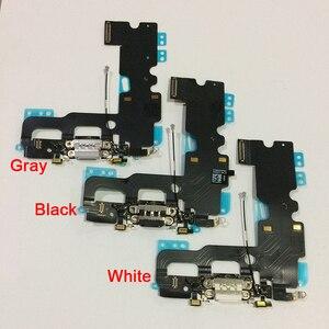 Image 2 - قطع غيار كابل مرن لهوائي الميكروفون لهاتف iPhone 7 أصلي وجديد لشحن منفذ USB وشاحن مزود بكابل مرن