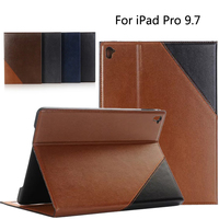 Top quality Luxury business PU leather wallet flip cover for iPad Air3 tablet PU Leather stand case For iPad pro 9.7