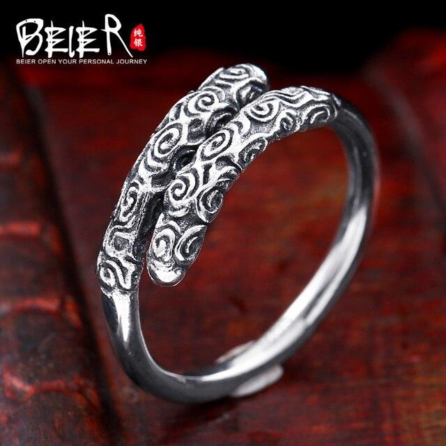 Beier new store100 % 925 bạc sterling gậy vàng ring cho người đàn ông monkey king vòng trang sức br-sr009
