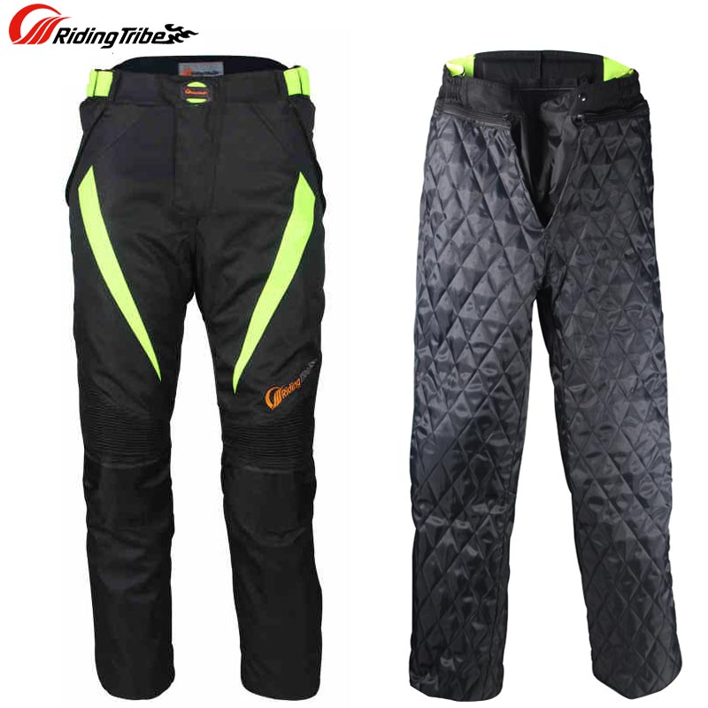 Riding Tribe Men Warm off-road Racing Pants Waterproof Motorcycle Motorbike Motocross Riding Trousers Pants Protective Gear riding tribe men motocross off road racing jacket motorcycle windproof waterproof riding travel clothing with 5 protective gear