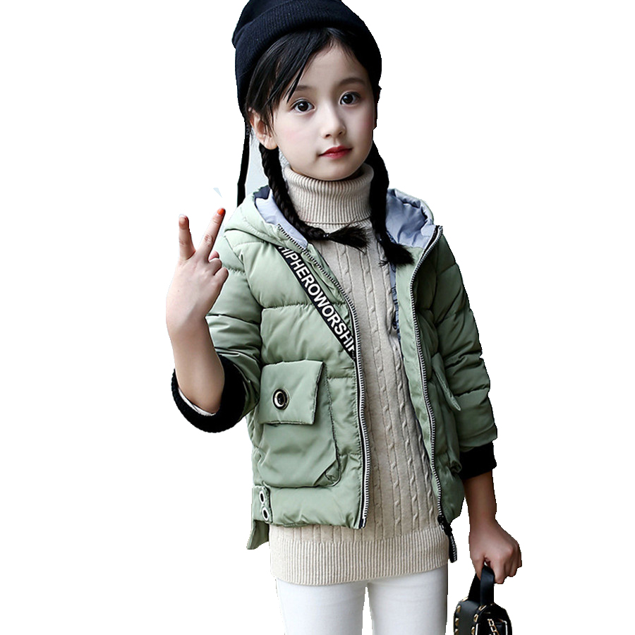 Jacket For Girls Fashion Winter Kids Coat With Back Packet Pretty Fall Warm Cotton Padded Jacket Children Army Green Girls Parka frank buytendijk dealing with dilemmas where business analytics fall short
