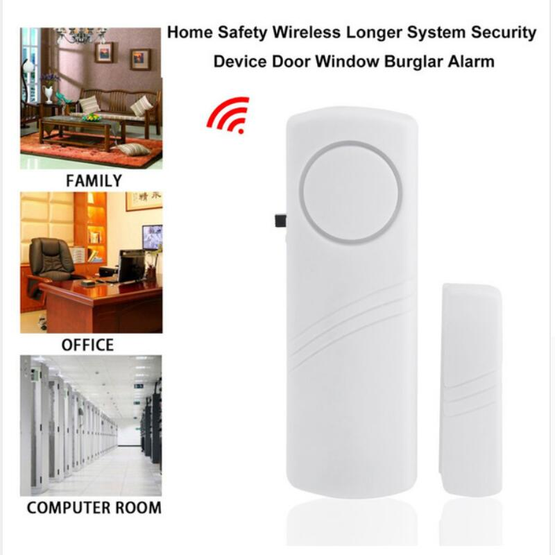 Door Window Wireless Burglar Alarm With Magnetic Sensor Window Door Entry Anti Thief Home Alarm System Security Device Wholesale 10pcs 2262 chip 315mhz optional coding wireless door sensor with jumper magnetic switch home security alarm anti thief