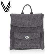 Veevanv 2017 г. Брендовые женские рюкзак мода элегантный дизайн школьные сумки ПУ двойная молния девушки рюкзак для ноутбука из мягкой кожи женская сумка