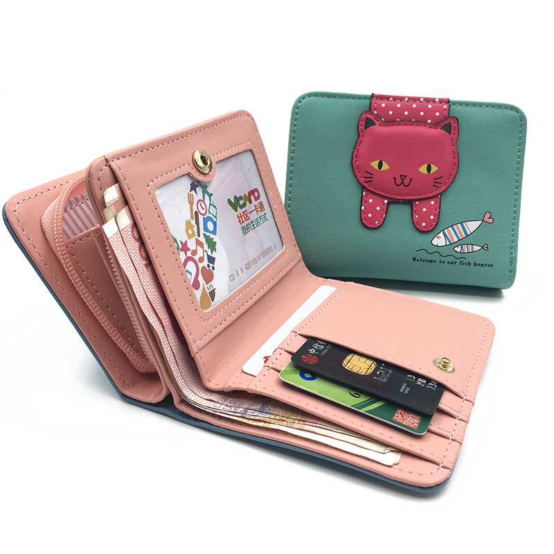 womens cat wallet