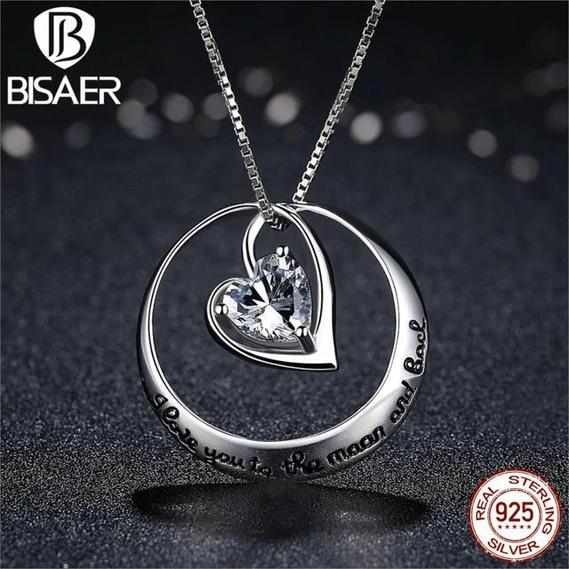 Bijoux Choker Necklace I LOVE You Forever Heart Pendant Necklace Collier Nyx Women Necklace Sterling Silver Jewelry Accessories
