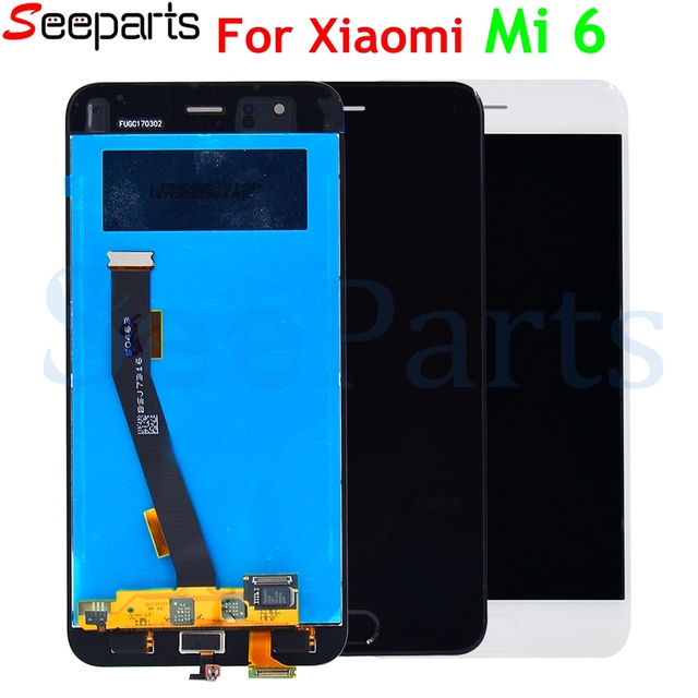"5.15""For Xiaomi Mi 6 Mi6 LCD Display With Touch Screen With Frame Digitizer Assembly NEW For Xiaomi 6 LCD Replacement Parts"