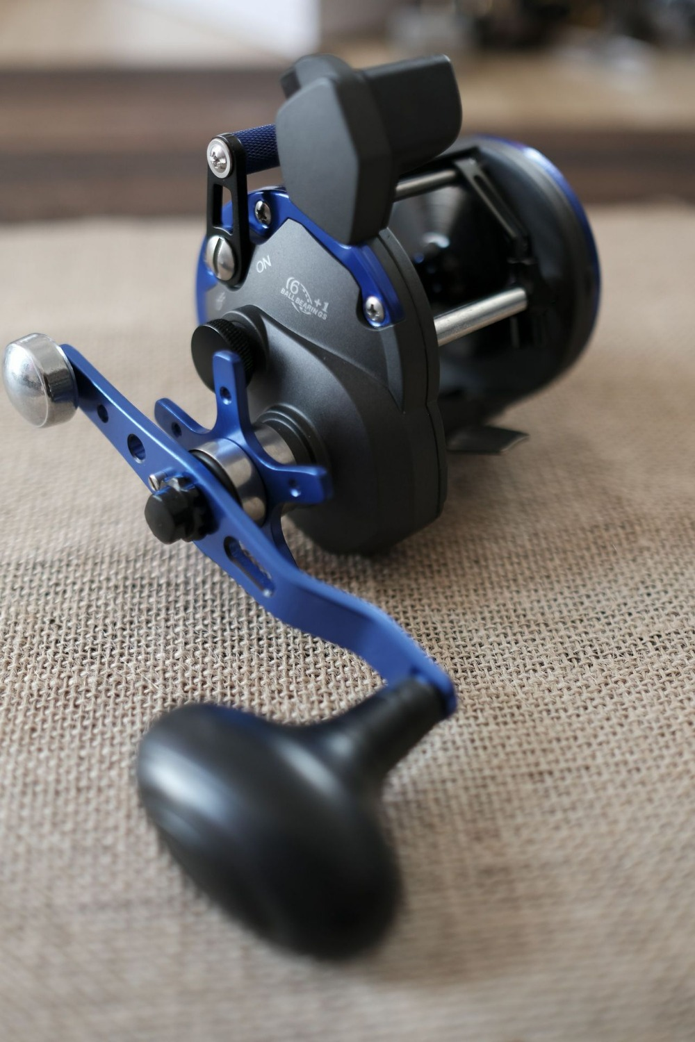 где купить 2018 WOEN new products CTB30 Sea fishing Fishing reel 6BB+1RB Iron plate wheel Counting code table Drum wheel Speed ratio: 6.2:1 дешево