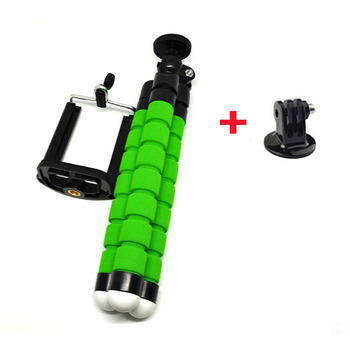 1PC/ Octopus Camera Tripod with + 2 PC/Adapter for SJ4000 Camera GoPro Hero 3+ 3 2 /cell phone Tripod Stand stand