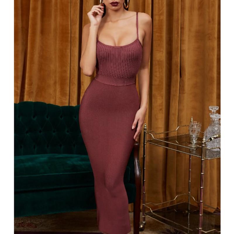 Boussac haute qualité Sexy moulante robes Slash cou extensible club fête robe midi tricoté crayon décontracté crayon longue robe