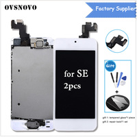 2pcs Lot Full Assembly LCD Display For IPhone SE Touch Digitizer Home Button Camera Camera Speaker