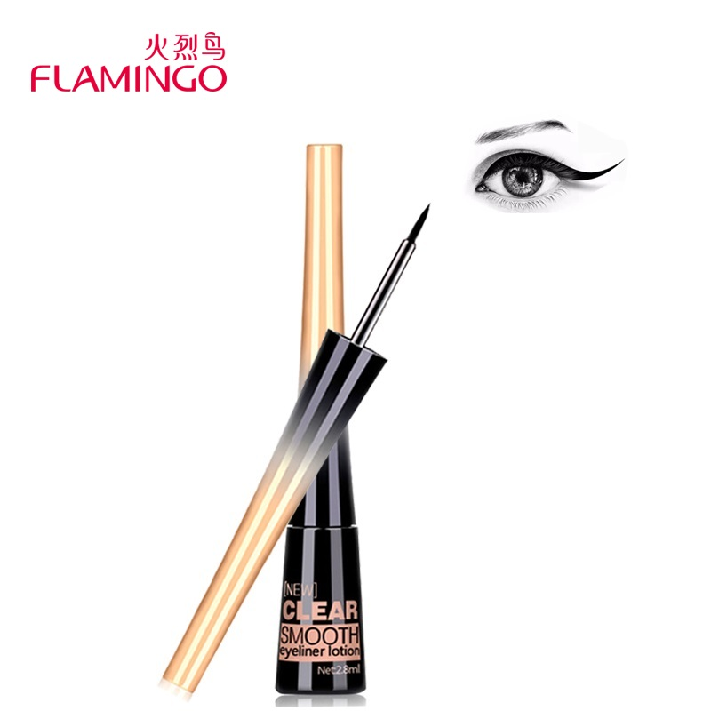 Flamingo Smooth Liquid Eye Liner Gel Skönhet Make Up Kosmetisk Eyeliner Svart Anti-Sweat Lätt att bära Långvarig Eyeliner 158