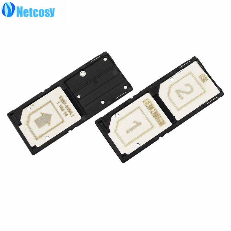 Netcosy Single Dual SIM Card Tray Slot Holder Adapter for Sony Xperia C3 Replacement Repair High Quality Phones Accessories