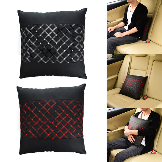 Car Styling Seat Back Pillow Cover Sofa Office Chair Lumbar Brace