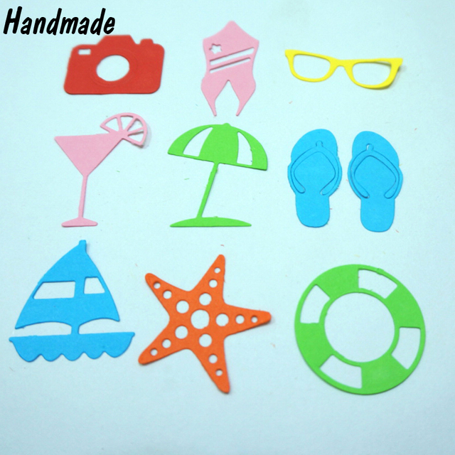 Summer Beach Holiday Series Card Maker Metal Die Cutting Dies For
