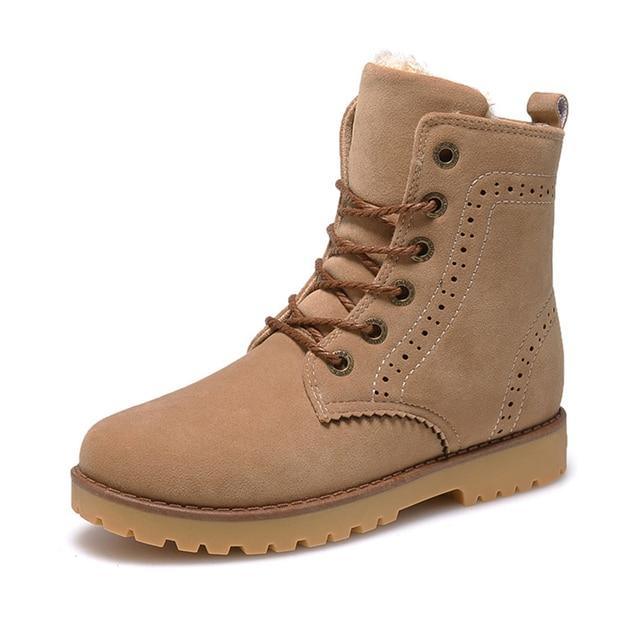 SYTAT Alta Qualidade Mulheres Botas de Inverno Da Marca Casuais Sapatos Quentes Botas de Neve Pele De Couro De Pelúcia Botas Sapatos Da Moda Mulher