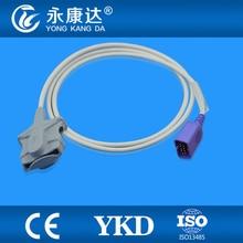 Compatível Nihon Kohden Adulto Macio Dica SpO2 Sensor 3 pés, 9pin